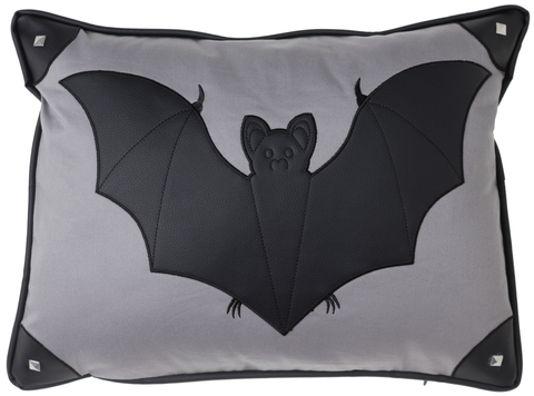 Canvas Bat Pillow
