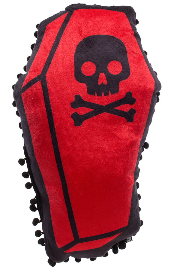 Red Coffin Shaped Pillow
