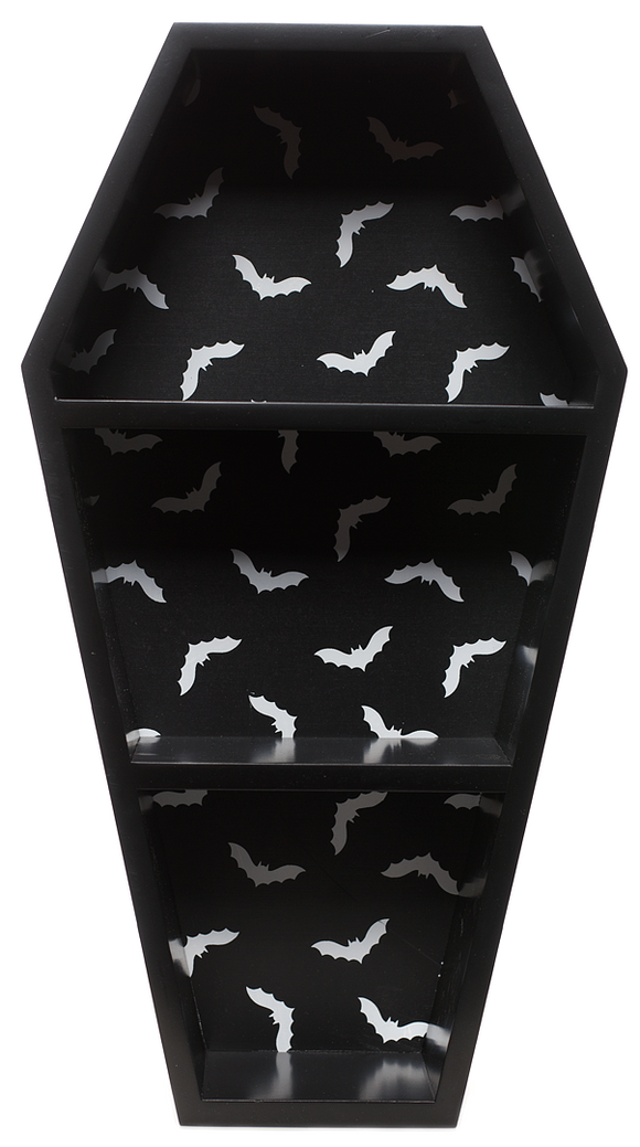 Bat Print Coffin Shelf