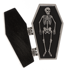 Drop Dead Hinged Coffin Enamel Pin