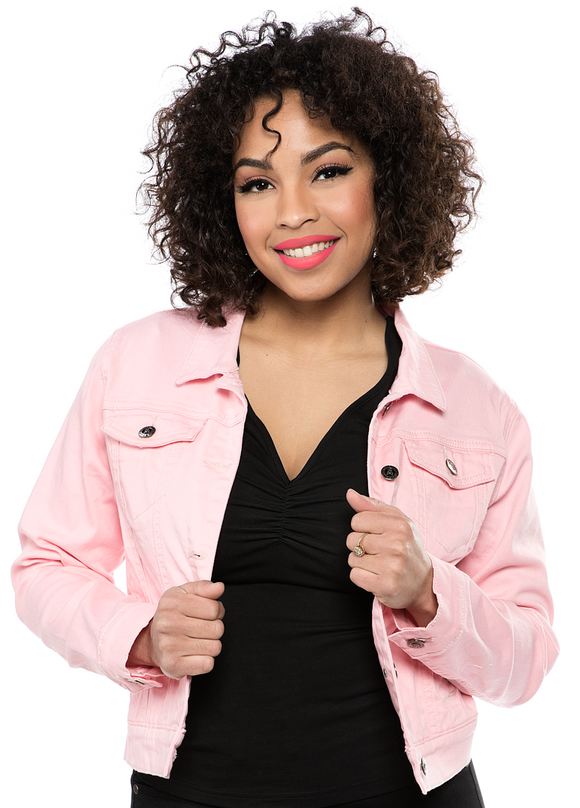 Baby Pink Essential Denim Jacket