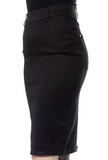 Black Pocket Pencil Skirt