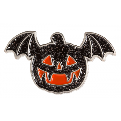 Flying Jack O Lantern Enamel Pin