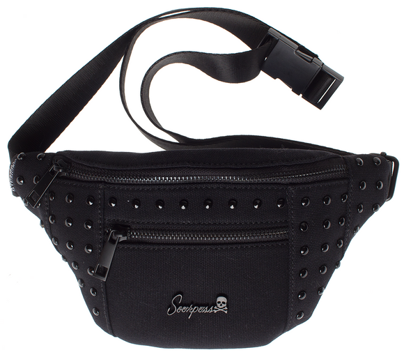 Black Studded Leda Fest Fanny Pack
