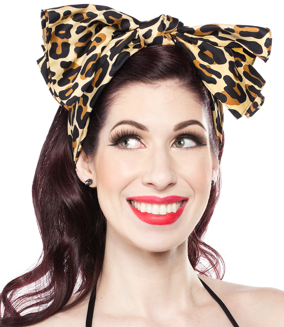 Leopard Print Bad Girl Hair Scarf