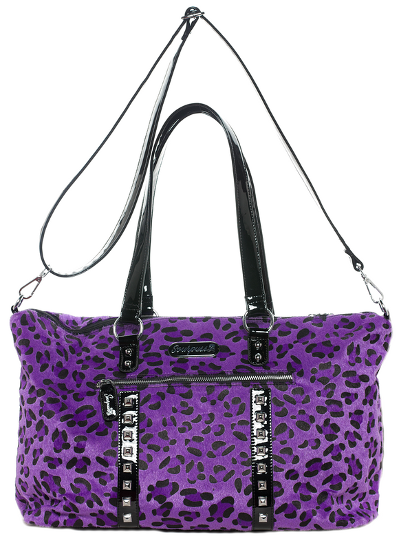 Purple Leopard Travel Bag