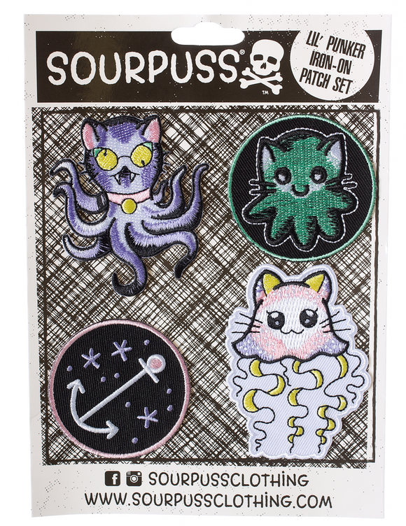 Kittens of the Sea Lil Punks Patch Set