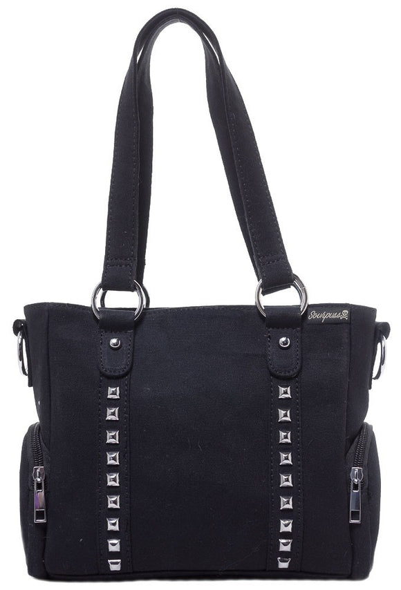 Mini Leda Studded Purse Black - DeadRockers