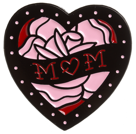Mom Heart Enamel Pin