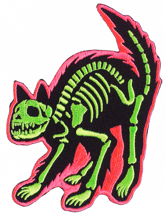 Electric Neon Kitty Patch