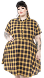 Yellow Plaid Button Down Dress (Only Large Left!)