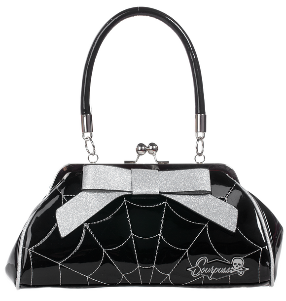 Silver Spider Web Floozy Purse