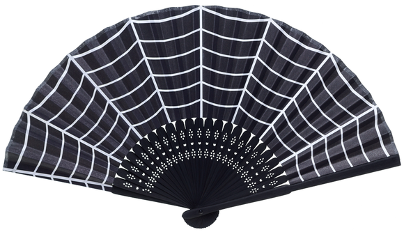 Spiderweb Paper Fan