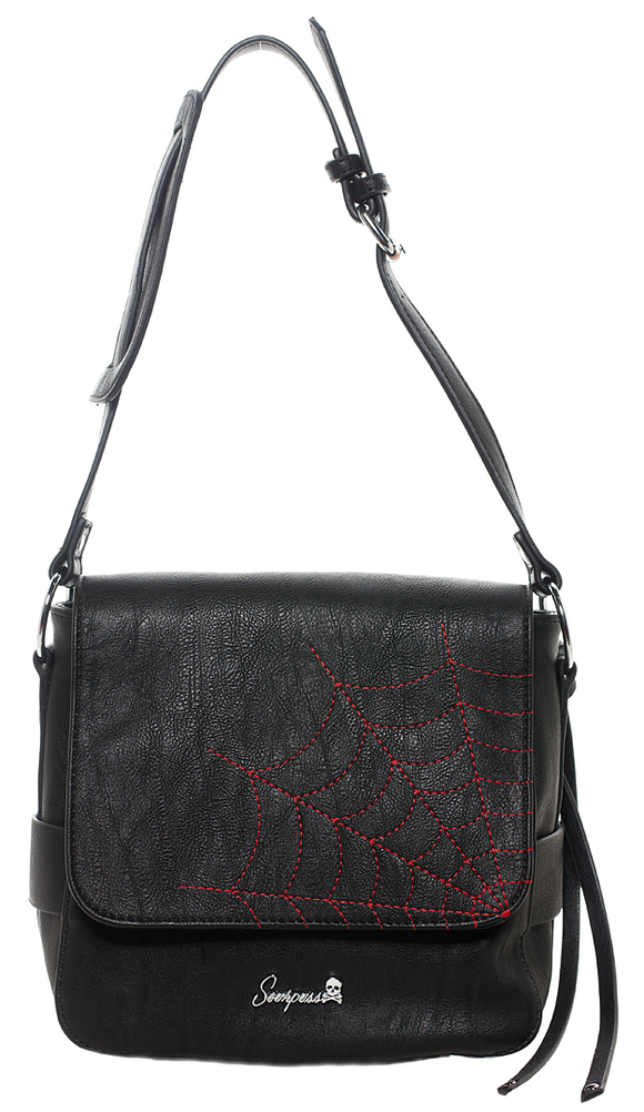 Red Spider Web Messenger Bag