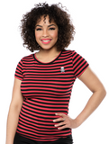 Striped Jolly Roger Top