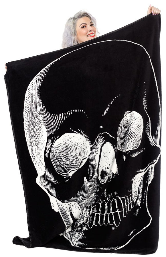Anatomical Skull Blanket - DeadRockers