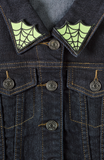 Spiderweb Collar Patches Green