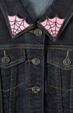 Spiderweb Collar Patches Pink