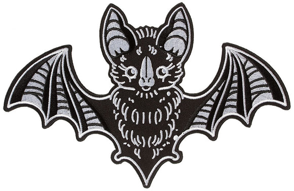 Black Bat Creep Heart Back Patch