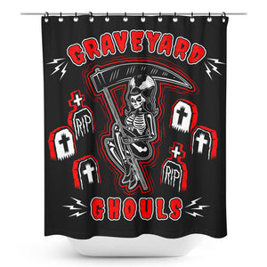 Graveyard Ghouls Shower Curtain
