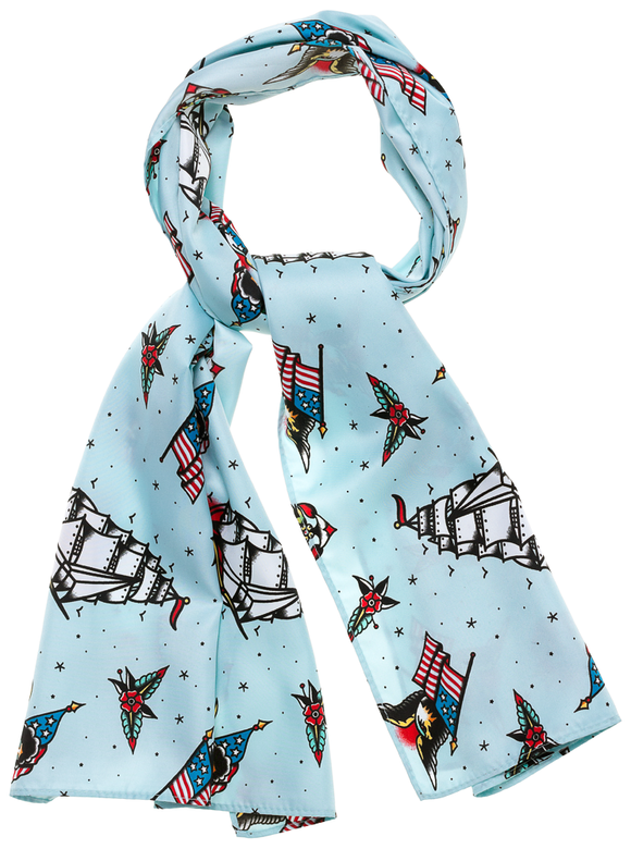 Sailor Tattoo Flash Bad Girl Hair Scarf