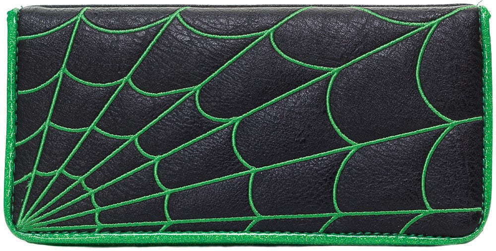 Green Spiderweb Wallet - DeadRockers