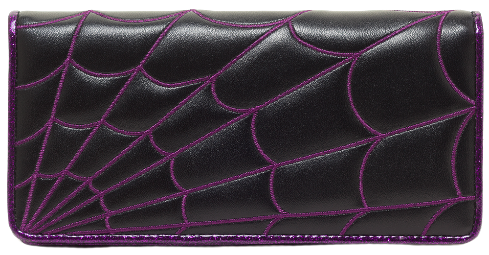 Purple Spiderweb Wallet - DeadRockers