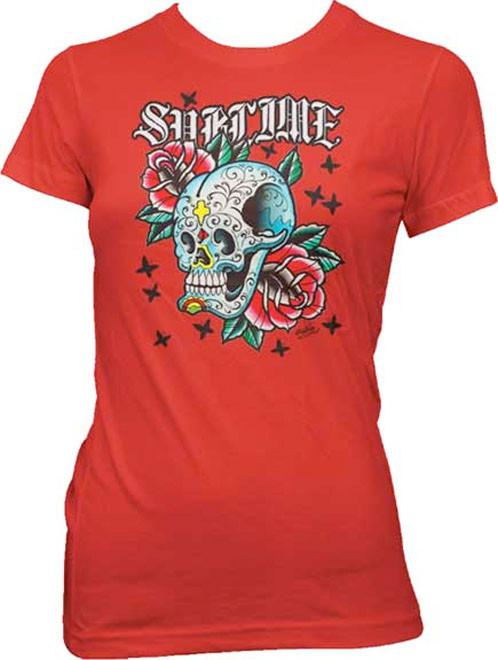 Sublime Skull with Roses Shirt