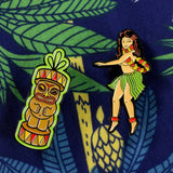 Hula Girl Pin