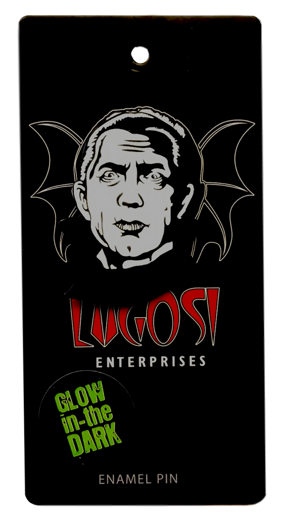 Bela Lugosi Dracula Glow in the Dark Enamel Pin