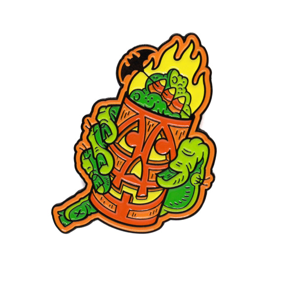 Tiki Drink Lantern Pin