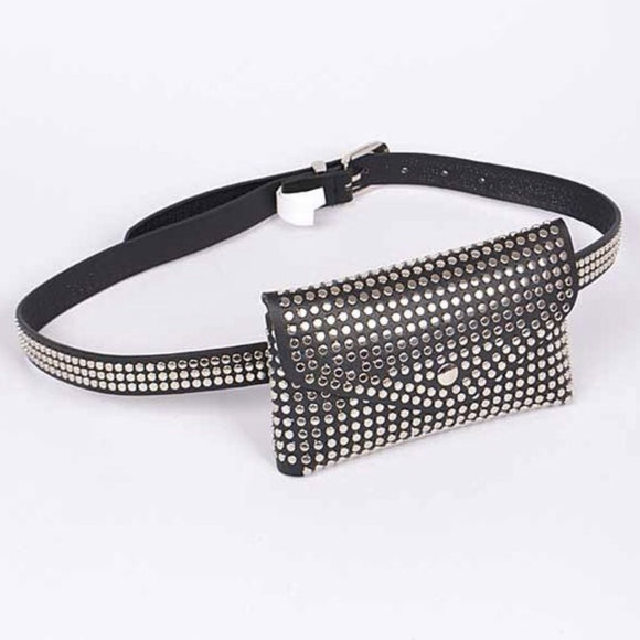 Turbo Lover Studded Waist Belt Bag