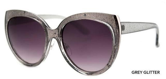 Grey Glitter Babe Sunglasses