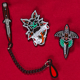 Switchblade Chain Enamel Pin