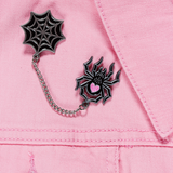 Spider Baby Chain Enamel Pin