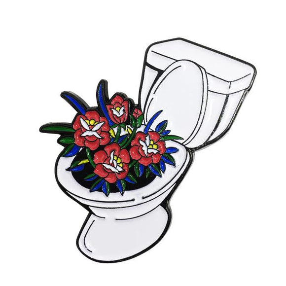 Toilet Enamel Pin