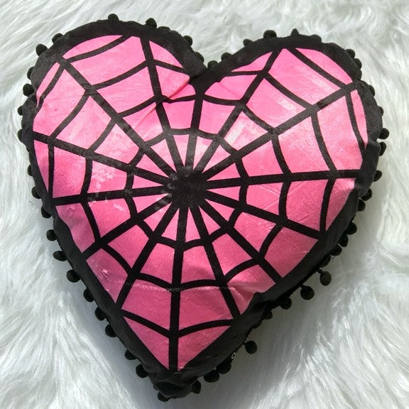 Webbed Heart Shaped Pillow