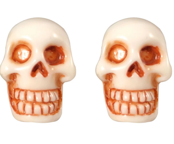 White Skull Stud Earrings