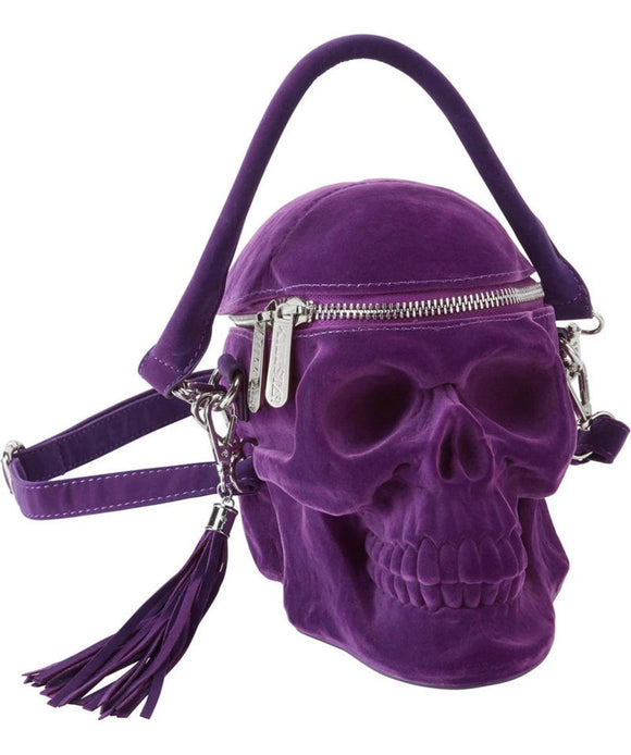 Plum Purple Grave Digger Skull Bag