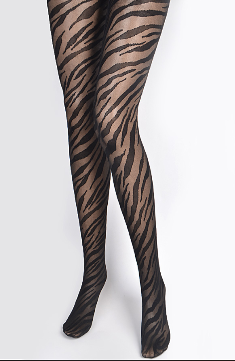 Zebra Print Tights