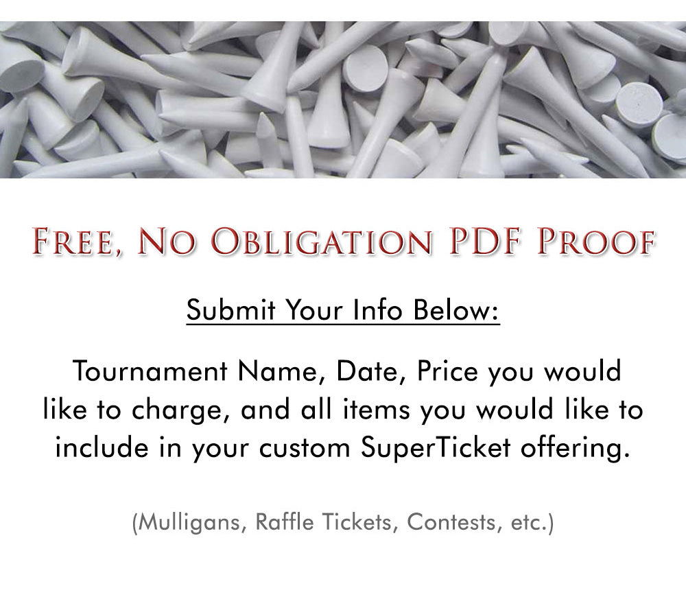 SuperTicket Fundraising Package Free Proof