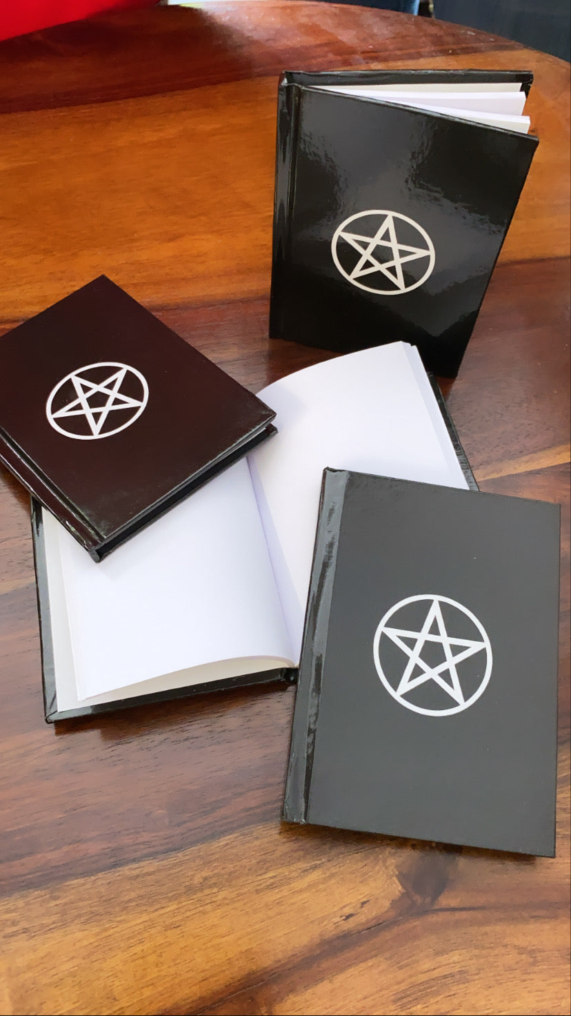 Pentagram Symbol Book - Spell Journal for Witchcraft - pentacle symbol Grimoire - Witchy small pocket size book - witch gifts - spell book