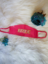 Load image into Gallery viewer, Set of 2 - Mint Green & Pink Embroidered Bride Groom Masks
