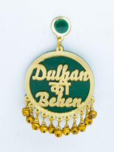 Load image into Gallery viewer, Green and Gold Dulhan Ki Behan Earrings