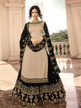 Load image into Gallery viewer, Beige Semi-Stitched Lehenga Set