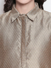 Load image into Gallery viewer, Beige Solid Printed Kurta