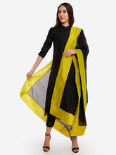Load image into Gallery viewer, Black and Green Solid Dupatta