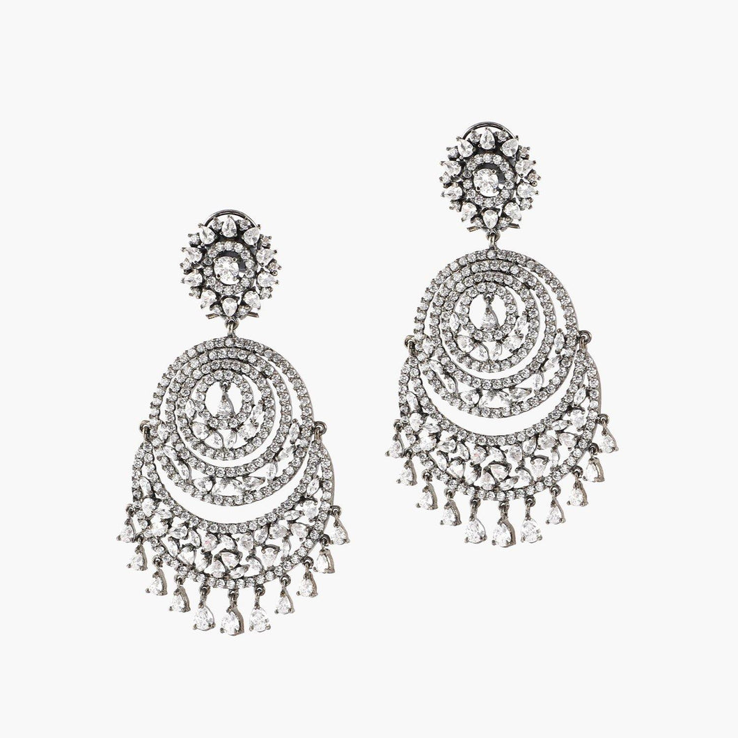 Black Gold Chandbali Earrings