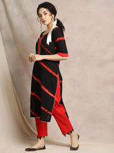 Load image into Gallery viewer, Black Gota Patti Kurta Pant Set