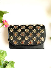 Load image into Gallery viewer, Black Nakshi Embroidered Clutch